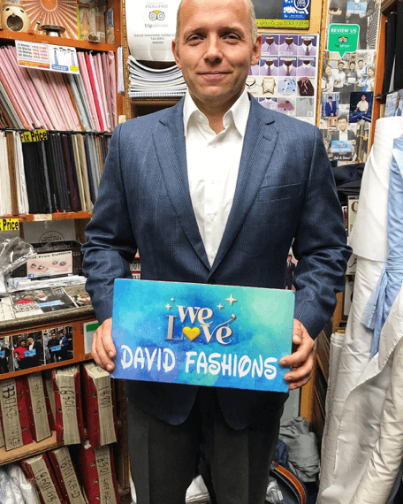 Free shirt and trousers from David Fashions