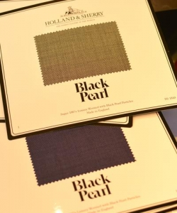 Special Fabric with Black Pearl Dust
