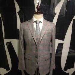 Grey checker suit