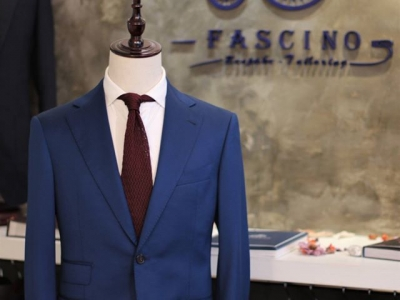 Scabal New Deluxe 100's Lake Blue