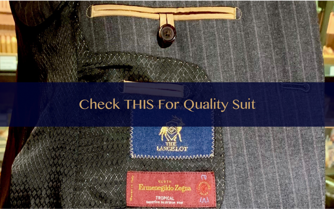 Check THIS to identify a quality suit