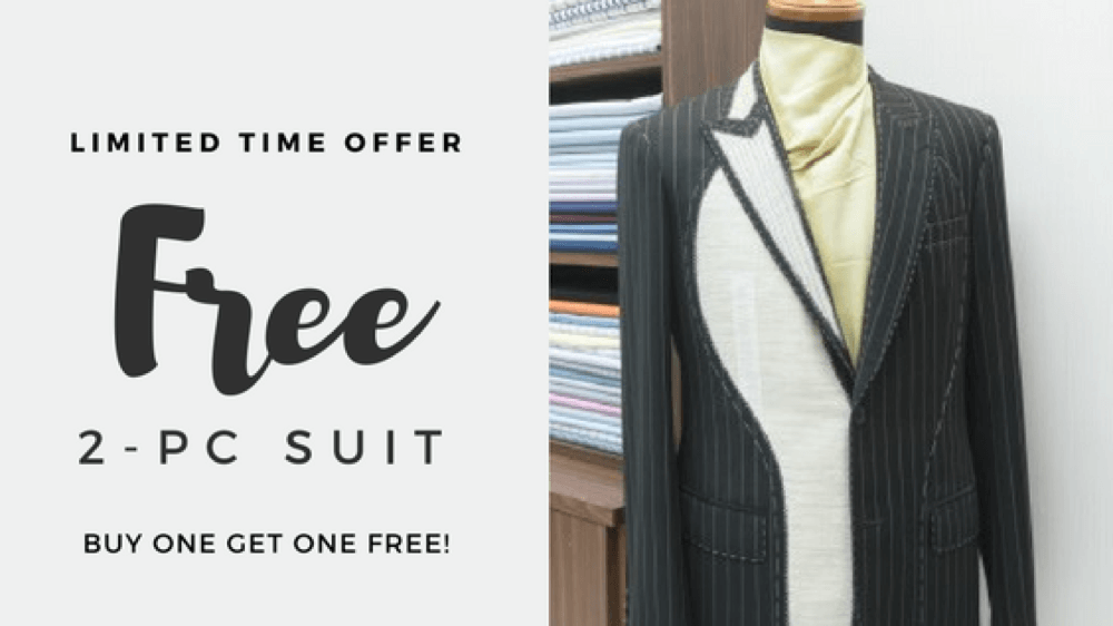 Limited Time Offer: Get a FREE suit!