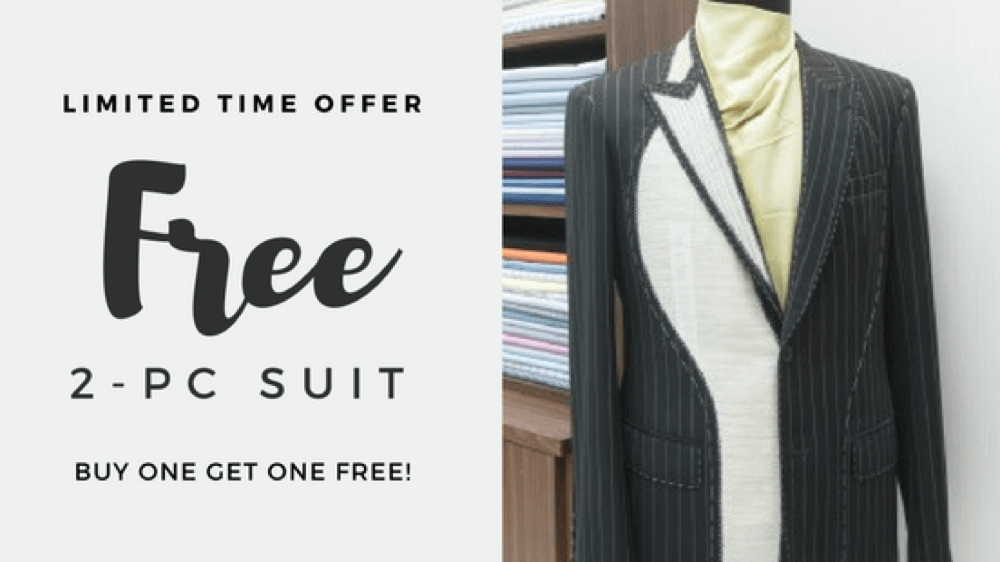 Limited Time Offer (Extended): Get a FREE suit!
