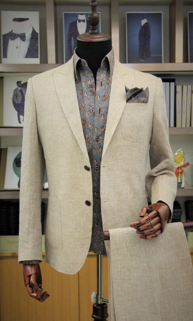 linen suit from A Timeless Tailor
